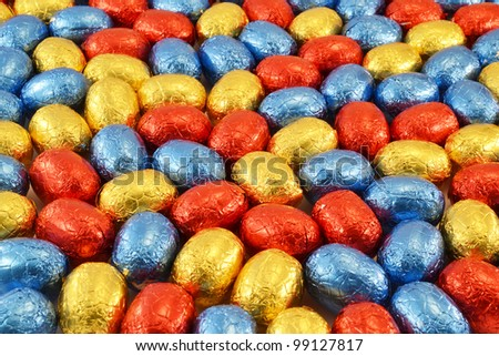 Easter eggs for a background.