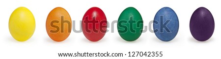 Easter eggs isolated on white background