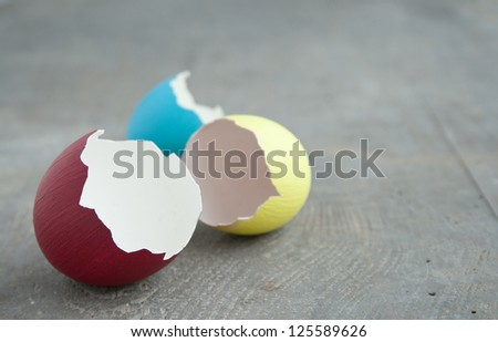 easter eggs on wooden ground/easter egg/easter