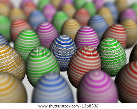 Easter eggs, Shallow depth of field