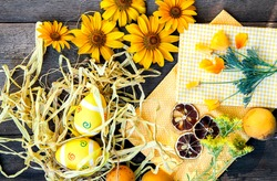 Easter eggs theme decoration