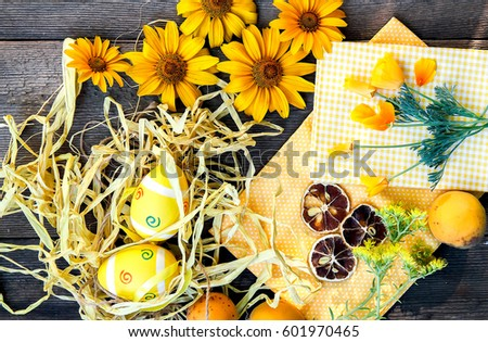 Easter eggs theme decoration #601970465