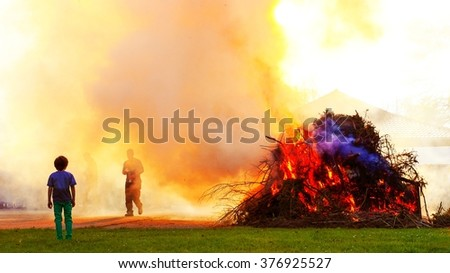 Easter fire in northern germany