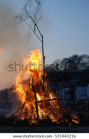 Easter fires are typically bonfires lit before, during, or after Easter Sunday as part of secular and religious celebrations
