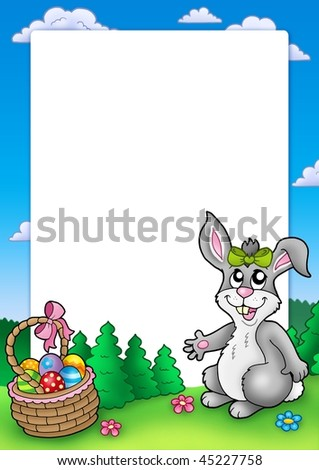 cute easter bunnies to colour in. cute easter bunny pictures to