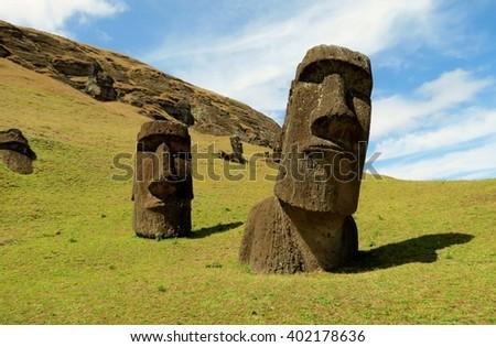 Easter Island Heads -  Rano Raraku