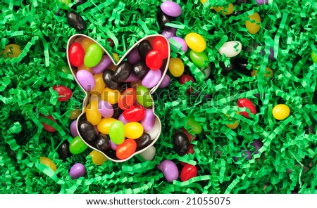 Easter jelly bean background