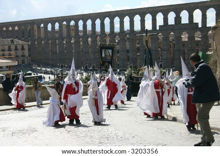 Easter Procession in the medieval city of Segovia, Spain