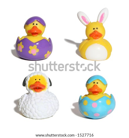Easter themed ducks