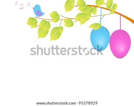 Easter view - stock photo