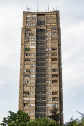 Eastern City Gate of Belgrade (Rudo) is a complex of three large residential buildings situated in the neighborhood of Konjarnik. It is among the most prominent structures along city skyline.