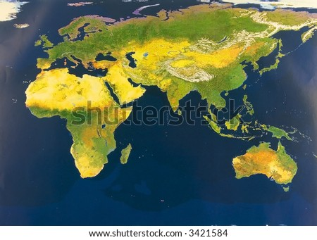 Eastern Hemisphere From Space Stock Photo 3421584 : Shutterstock