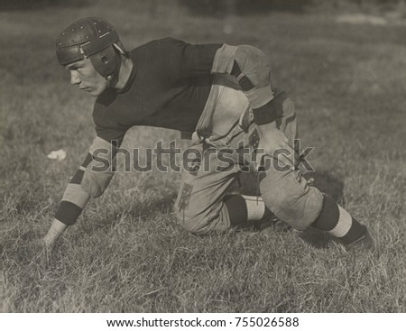 Eastern High School football player in Washington, D.C., ca. 1920-1925.