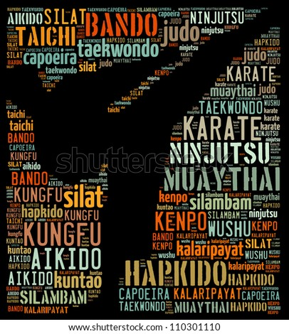 Eastern martial arts: text graphics