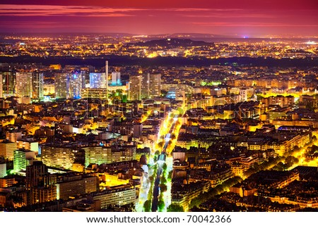 Eastern Paris at Night