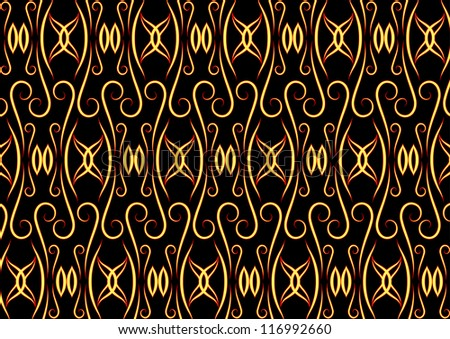 Eastern pattern with yellow and red elements