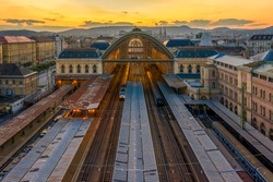 Eastern railway station in Budapest. One of the big junctions of Budapest. International and domestic trains does arrival and departure from here.