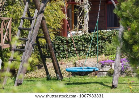 eastern spring awakening of rural countryside cottage area in south germany near city stuttgart and munich #1007983831
