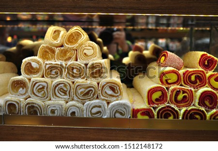 Eastern sweets candy,  confectionery of Turkey