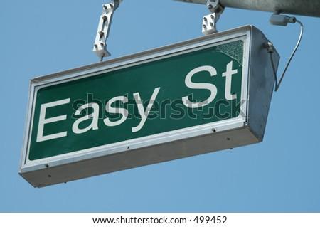 Easy Street sign