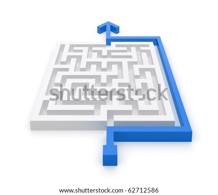 Easy way for maze solution