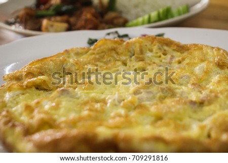 Eat anything delicious omelette #709291816