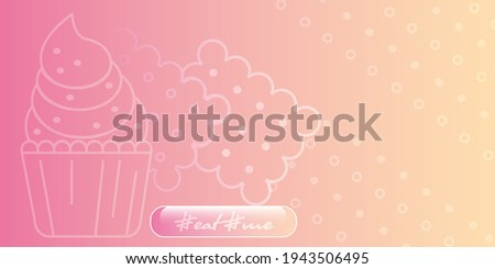 Eat me. Creative poster or flyer. Abstract colored set. 2-D graphic illustration  Stok fotoğraf ©
