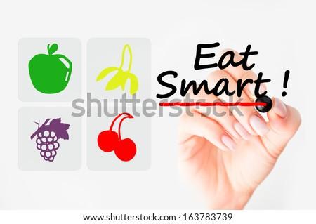 Eat smart concept