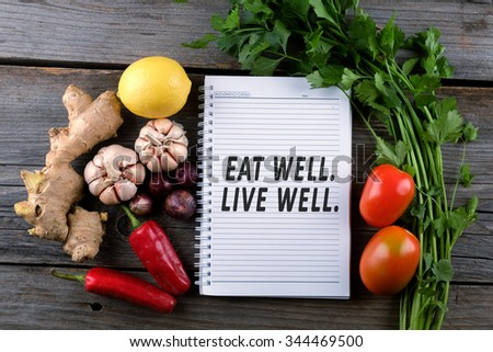 Eat well, live well. Health conceptual. #344469500