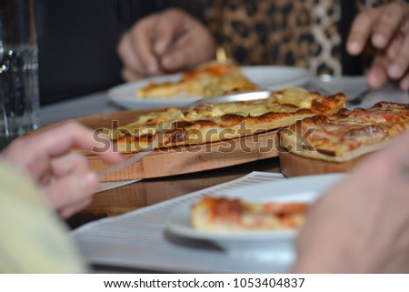 eating, lunch, eating, eating pizza #1053404837