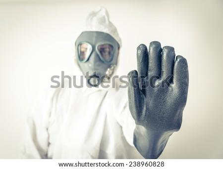 ebola stop. concept about bio hazard and health care