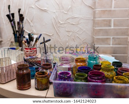 """Ebru Art, the Ancient Techniques of """"Painting on Water"""". Ebru paints, brushes and accessories"""