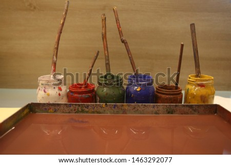 Ebru is a decorative art made by passing the patterns created with specially prepared paints on paper intensified with tragacanth on paper. #1463292077