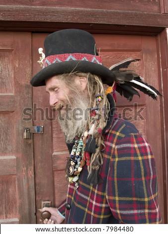Eccentric older man