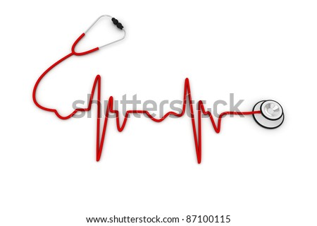 ECG made up of Stethoscope
