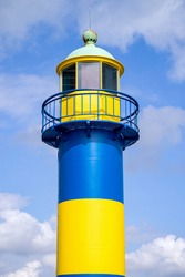 Eckernförde lighthouse in Schleswig-Holstein, Germany