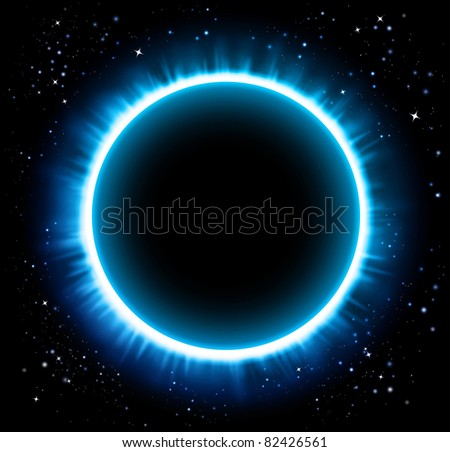 Eclipse blue background - Raster version