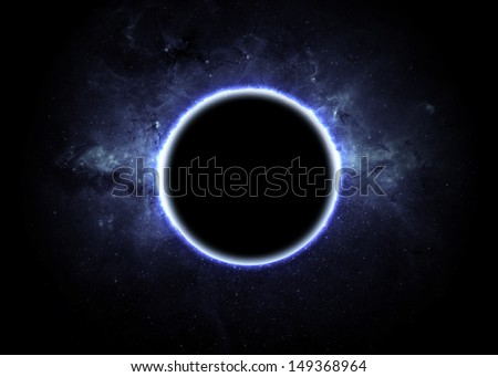 Eclipse of the sun Elements of this image furnished by NASA