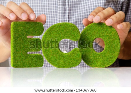 eco alphabet concept - stock photo