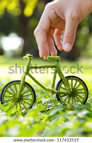 Eco bicycle icon