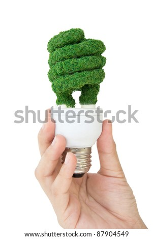 eco bulb - stock photo