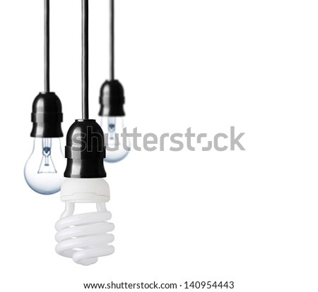Eco concept with bulbs