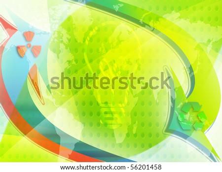 eco conceptual image; world saving energy