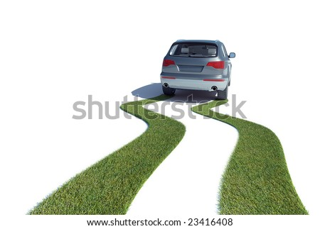 Eco-friendly car concept - stock photo
