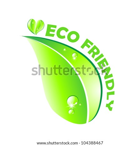 Eco friendly concept. Leaf on white background.