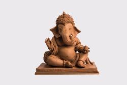 eco friendly Ganesh/Ganpati idol or murti, home made. selective focus