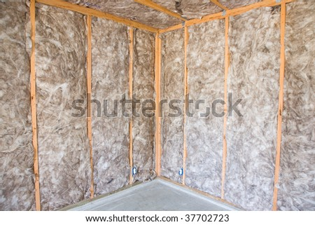 Eco friendly insulation in a home remodel project stock for Eco friendly house insulation
