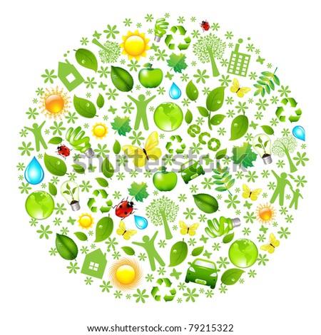 Eco Globe, Isolated On White Background