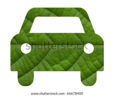 Eco green energy car - stock photo