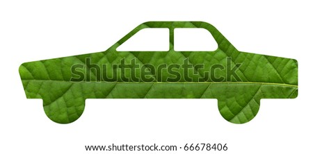 Eco green energy car - stock photo